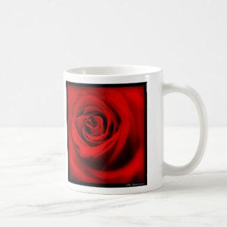 Red Rose Classic White Coffee Mug