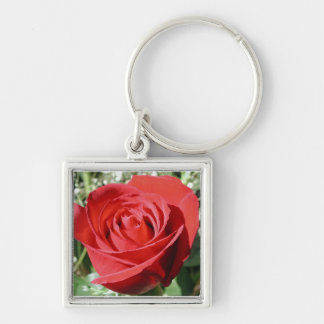 Red Rose Close Keychain