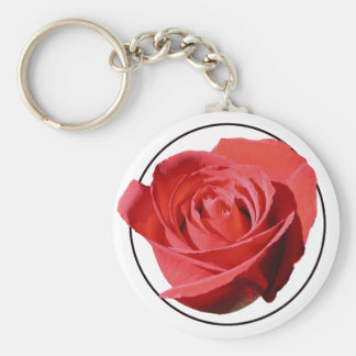 Red Rose Close Lone Keychain