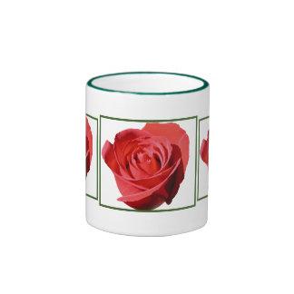 Red Rose Close Lone Mug