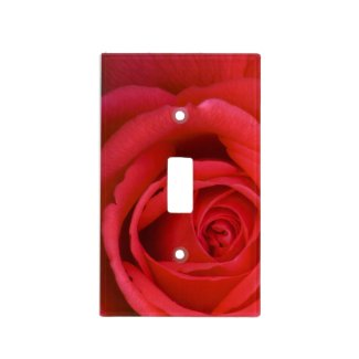 Red Rose Close-up Switch Plate Cover