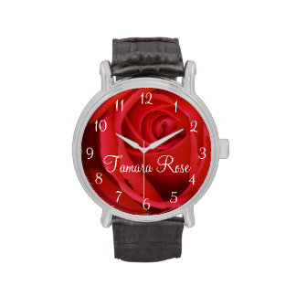 Red Rose Close-up Watches