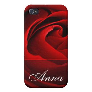 Red rose closeup photo iPhone 4 cases