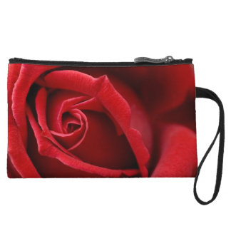Red Rose Clutch Wristlet Clutches