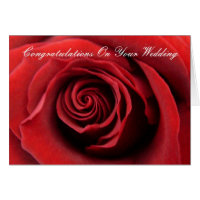 Red Rose Congratulations On Your Wedding Card