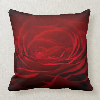 Red Rose Cotton Throw pillow