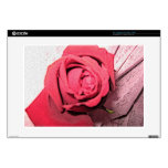 """Red Rose Cover 15"""" Laptop Decals"""