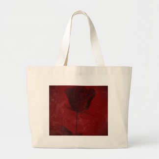 Red Rose Creative Textured Design Bag