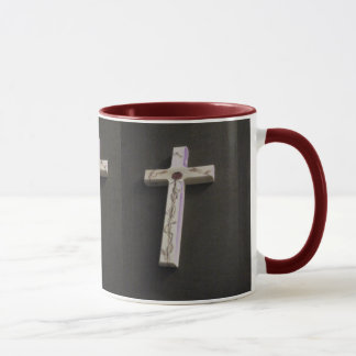 Red rose cross cup old fashioned