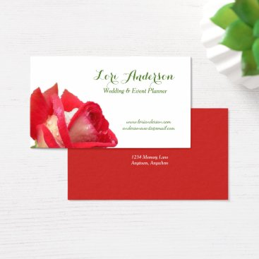 Professional Business Red Rose Custom Business Card