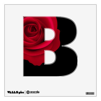 Red Rose Custom Capital Letter Wall Decal