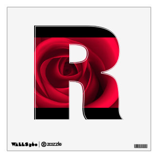 Red Rose Custom Capital Letter Wall Decal Room Stickers