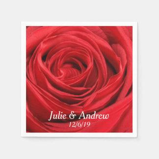 Red Rose Custom Napkins