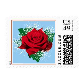 Red Rose custom postage (Sml)