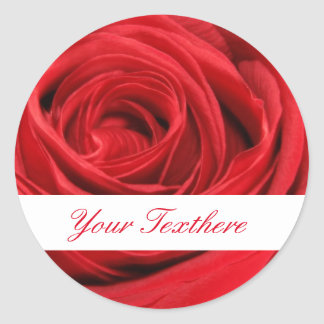 Red Rose Custom Stickers