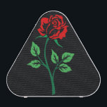 """Red Rose Customizable Bluetooth Speaker<br><div class=""""desc"""">A big bright full rose silhouette adorns this lovely Bluetooth speaker with style on both the front and back! This rose design is available in eight colors on any background color you desire!  Jazz up your musical enjoyment with this speaker today!   What an elegant way to enjoy your music!</div>"""