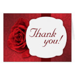 Red Rose Damask Custom Thank You Cards