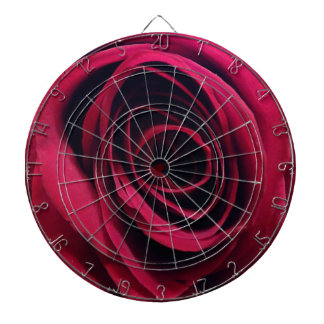 Red Rose Dartboard With Darts
