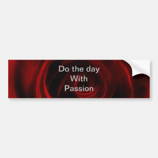 Red Rose depth of love Bumper Sticker