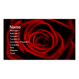 Red Rose depth of love Business Card Template