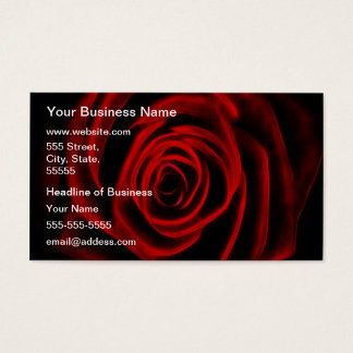Red Rose depth of love Business Card