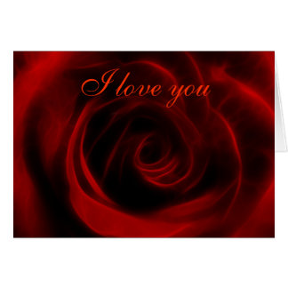 Red Rose depth of love Greeting Card
