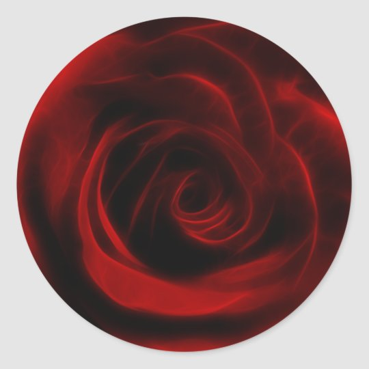 Red Rose depth of love Classic Round Sticker
