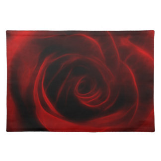 Red Rose depth of love Cloth Placemat