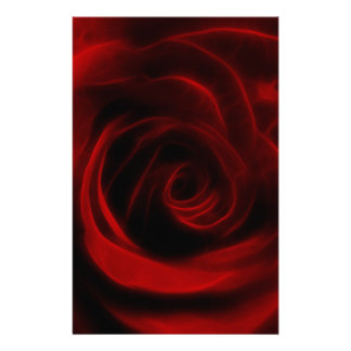 Red Rose depth of love Stationery