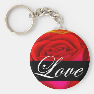 Red Rose Dog Cat Painting Art - Multi Key Chains