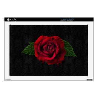 Red Rose Dripping Blood Black Gothic Laptop Skin musicskins_skin