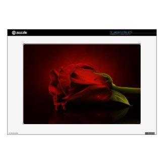 Red Rose Dripping Blood Laptop Skin musicskins_skin