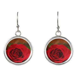 Red Rose Earrings