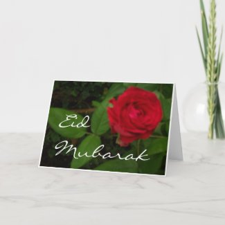 Red Rose Eid Card card