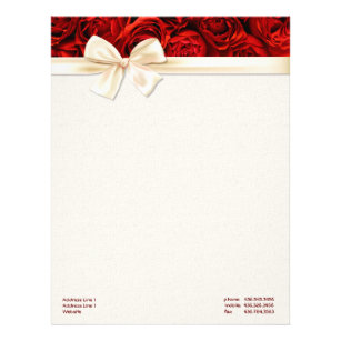 red rose elegance 2 customize letterhead