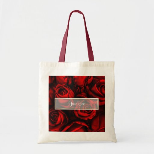 Red Rose Elegance Canvas Bags