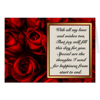 Red Rose Elegance - Customize inside text. Card