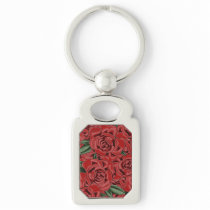 Red Rose Elegance Keychain