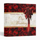 Red Rose Elegance - Our Wedding Vinyl Binders