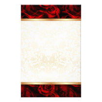 Red Rose Elegance Stationery
