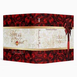Red Rose Elegance - Wedding Planner Binders