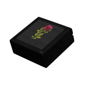 Red Rose Embossed Leather Look Gift/Jewellery Box
