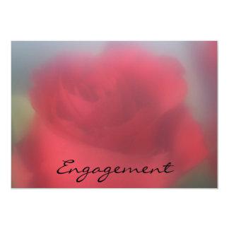 "Red Rose Engagement Invitation 5"" X 7"" Invitation Card"