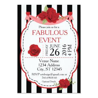 Red Rose Event Invitation