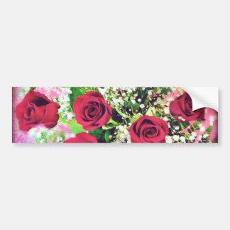 Red Rose Explosion Bumper Sticker