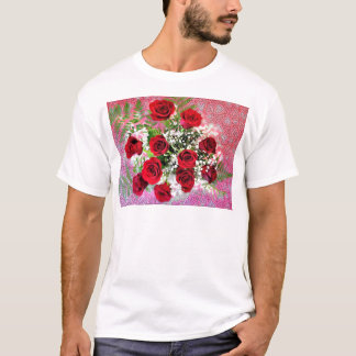 Red Rose Explosion of Love T-Shirt