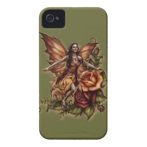 """Red Rose Fairy"" Barely There iPhone 4 Case"