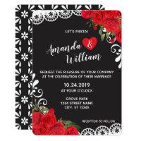 Red Rose Fiesta Wedding Invitation (5 x 7)