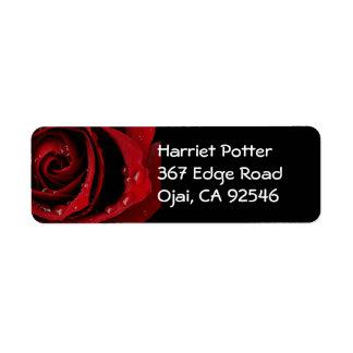 Red Rose Fine Art Label