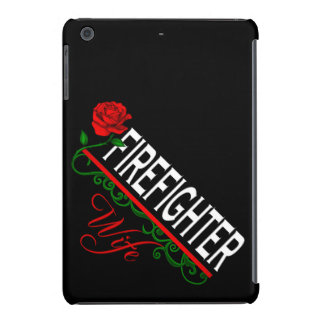 Red Rose FIREFIGHTER WIFE iPad Mini Case